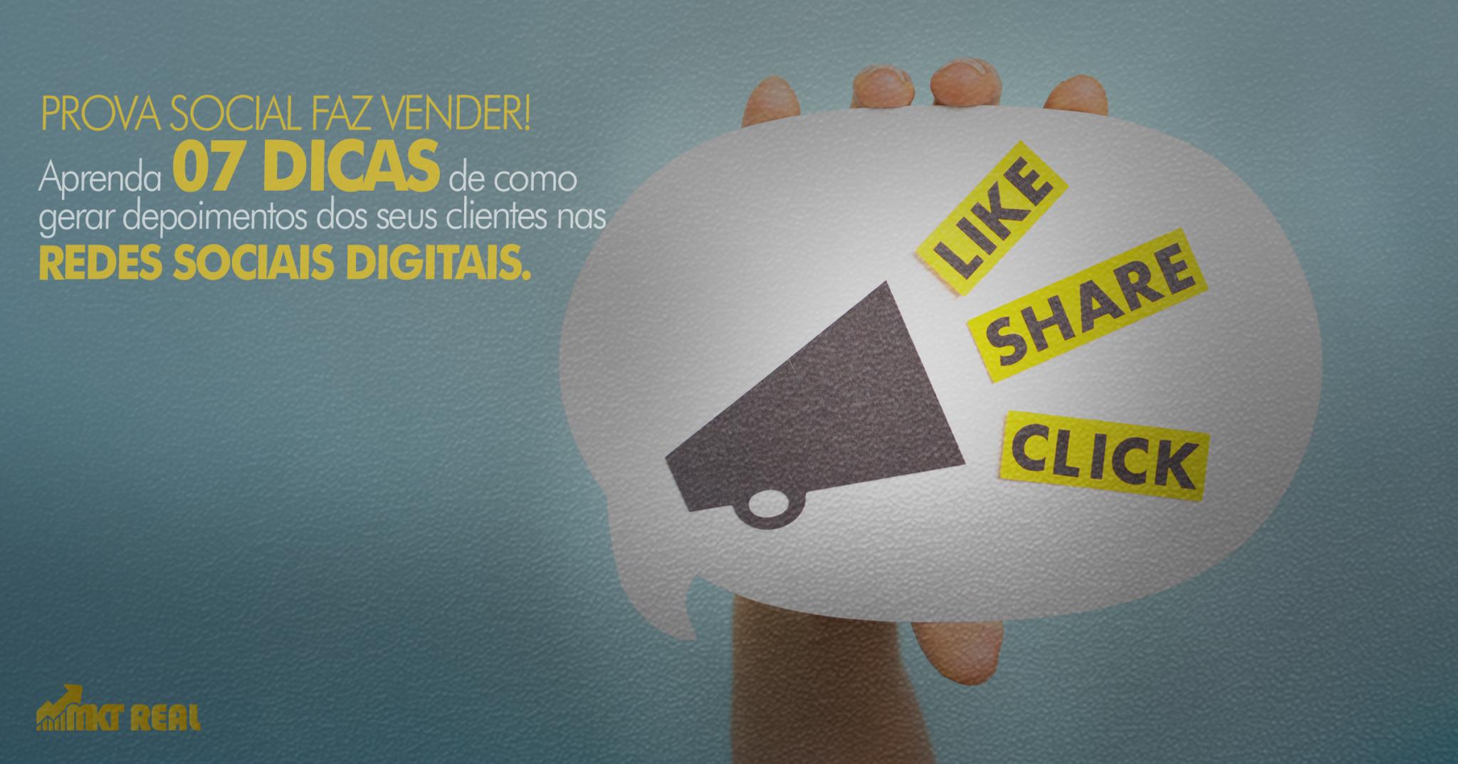 como gerar depoimentos nas redes sociais digitais.